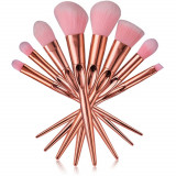 AC1301-5 Kit make-up ce include 8 pensule de diverse dimensiuni, cu manere aurii