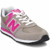 Ghete Copii New Balance GC574GP, 37, 37.5, 38, 39, 40, Gri, New Balance