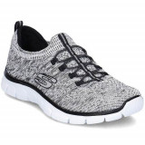 Pantofi Femei Skechers Sharp Thinking 12418WBK, 40, 41, Alb