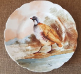 LIMOGES  anii 1900  farfurie portelan frantuzesti  pictata manual antichitati