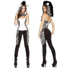 X143 Costum Halloween salopeta zebra