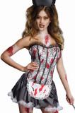 J211 Costum tematic menajera zombie, S/M