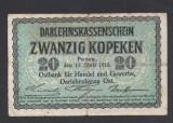 A2821 Germany Germania Lithuania Lituania 20 kopeken 1916
