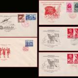 1949 FDC ROMANIA - Colectie an complet, toate emisiunile prima zi, Romania 1900 - 1950