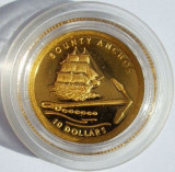 PITCAIRN 10 dollars 2007 Bounty Anchor proof 1,24 g AUR .999, Australia si Oceania