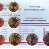 Luxemburg setul 8 monede euro 2004 cu 2 euro comemorativa - in folder, Europa