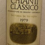 R 32 -VIN ROSU CHIANTI CLASSICO, DOC, FATT TRASQUA. RECOLTARE 1980 cl 75 gr 12,5, Sec, Europa