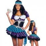 Cumpara ieftin H135 Costum Halloween gipsy, tigancusa