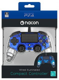 Controller Nacon Wired Illuminated Compact Light Edition Blue Ps4