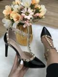 Pantofi dama negri cu toc stiletto marime  38, 39, 40,  41+CADOU, Din imagine