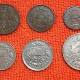 Santimu 1922 Letonia , set 1 , 2 , 5 , 10 , 20 si 50, Europa