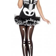 K418-1122 Costum tematic Halloween - Fever Skeleton
