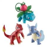 Set 3 figurine Charmeleon, Wartortle & Ivysaur, 6 cm, Tomy