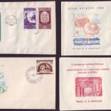 1954 FDC ROMANIA - Colectie an complet, toate emisiunile prima zi, Romania de la 1950