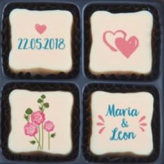 Marturie Nunta - Ciocolata Belgiana Personalizata EM1451