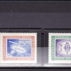 ROMANIA 1966 LP 635  CENTENARUL SISTEMULUI   METRIC DIN  ROMANIA SERIE  MNH
