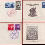 1952 FDC ROMANIA - Colectie an complet, toate emisiunile prima zi, Romania de la 1950
