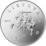 SV * Lituania  1.5 EURO  2017  (1 EURO 50 CENTS)     UNC, Europa, Nichel