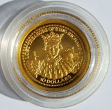 FIJI 10 dollars 2003 Lost Treasure of King Richard II proof  1,24 g AUR .999, Australia si Oceania