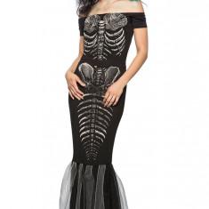 M548-1 Costum cu tematica Halloween - Skeleton Mermaid