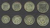 IUGOSLAVIA █ SET COMPLET DE MONEDE █ 10, 20, 50, 100 Dinara █ 1989 █ UNC, Europa