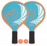 Set tenis plaja FG 2 manusi + mingi albastru-portocaliu, Waimea