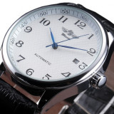 Ceas Winner Win105 Automatic White Leather Steel