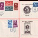 1951 FDC ROMANIA - Colectie an complet, toate emisiunile prima zi, Romania de la 1950