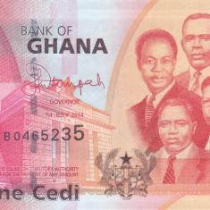 Bancnota Ghana 1 Cedi 2014 - P37e UNC