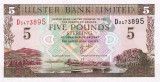 IRLANDA DE NORD █ bancnota █ 5 Pounds █ 2001 █ P-335c █ ULSTER BANK █ UNC █