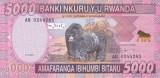 Bancnota Rwanda 5.000 Franci 2014 - P41 UNC