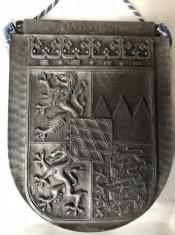 Blazon vechi,metalic,,german,cu basorelief foto