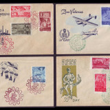 1948 FDC ROMANIA - Colectie an complet, toate emisiunile prima zi, Romania 1900 - 1950