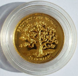 NIUE 25 dollars 1996 Protect our World  proof 1,24 g AUR .999, Australia si Oceania