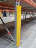 Protectie de stalp de raft in bucse elastice