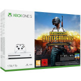 Consola Microsoft Xbox One S 1Tb Alb + Playerunknown S Battlegrounds (Code In Box) Xbox One