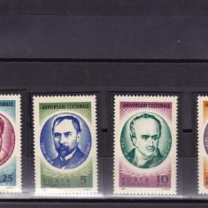 ROMANIA 1966 LP 636   ANIVERSARI CULTURALE II SERIE  MNH