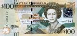 INSULELE CARAIBE █ bancnota █ 100 Dollars █ 2016 █ P-55b █ UNC █ necirculata