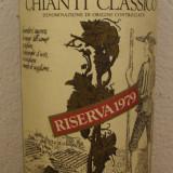 R 36-VIN ROSU CHIANTI CLASSICO,RISERVA COLLI D'ORO, RECOLTARE 1979 cl 75 gr 12,5, Sec, Europa
