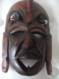 Superba masca africana veche,marcata Kenia 1992,din abanos,stare perfecta.