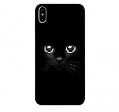 Husa print cat negru pentru iPhone X foto