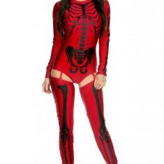 S434-3 Costum tematic Halloween - model anatomic schelet Bad to the bone