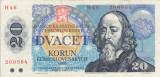 CEHOSLOVACIA 20 korun 1988 VF!!!