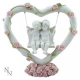 Statueta ingerasi Inima iubitoare 19.8 cm