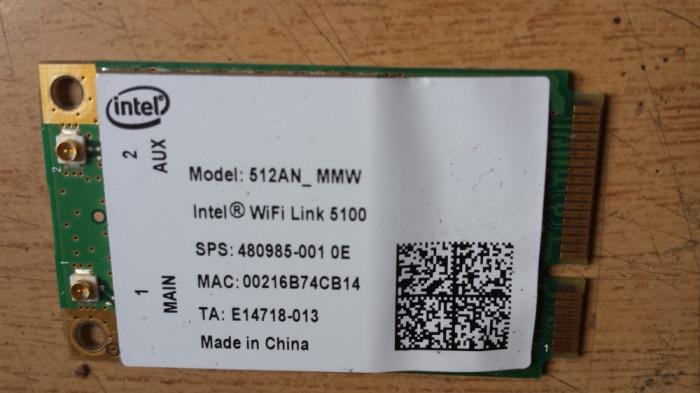 wifi Acer Aspire 8930 & 8930G Intel 512AN_MMW WiFi Link 5100 Mini PCI-E Card