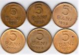 SERIE COMPLETA  6 bucati 5 bani  1952  1953  1954  1955  1956  1957 (2), Alama