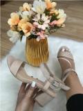 Sandale dama bej nude cu toc mic marime   38, 39+CADOU