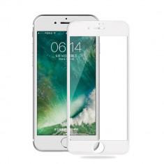 Folie Sticla iPhone 7 Plus 3D Full Screen Alba, Anti zgariere