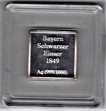 Germania Bayern 1 Kreuzer  1849 lingou argint  pur 999/1000 PROF sigilat,cutie, Europa