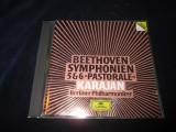 Beethoven.Herbert von Karajan - Symphonien 5 & 6 _ CD _ Deutsche Grammophon,1984, Deutsche Grammophon